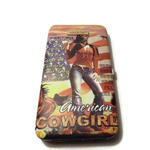 Nicole Lee American Cowgirl Hard Shell Wallet